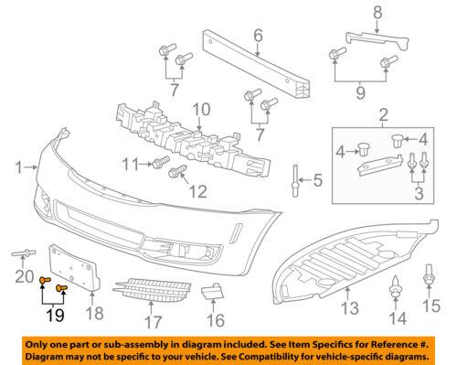 Genuine GM Parts 22669469 Front Bumper Bracket