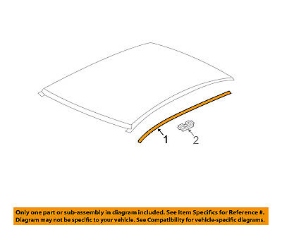 Chevrolet GM OEM 12-16 Sonic-Roof Molding Trim Right 95483060