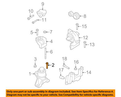 FORD OEM Engine Motor Transmission-Front Mount Bolt W712507S439