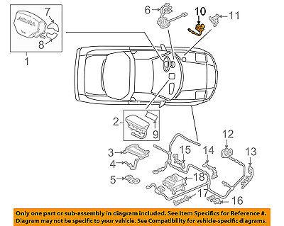 Acura HONDA OEM 93-05 NSX Air Bag-Dash Sensor 77930SL0N90