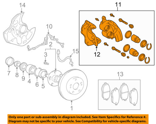 Lexus TOYOTA OEM 01-05 IS300 Front Brake-Disc Caliper 4775053010 | eBayeBay