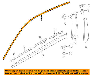 BMW OEM 15-16 428i Gran Coupe Exterior-Reveal Molding Left 51357332535