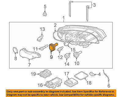 VOLVO OEM 07-15 S80-Headlight Headlamp Bulb 30763954