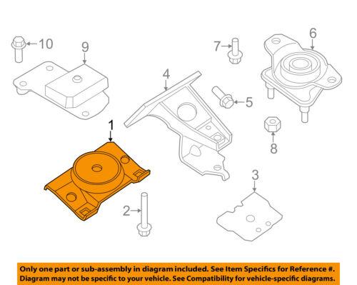 details about infiniti nissan oem 11-13 qx56-engine motor mount torque  strut 112201la3c