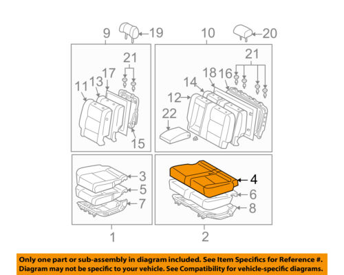 TOYOTA Genuine 71076-0C070-B3 Seat Cushion Cover