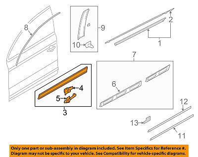 AUDI OEM 08-15 Q7 Front Door-Lower Molding Trim Left 4L0853959FGRU
