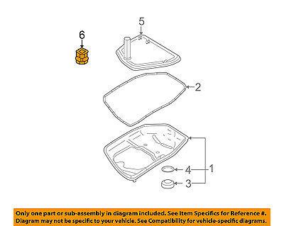 AUDI OEM 05-11 A6 Quattro Transaxle Parts-Filter Seal 09L325443