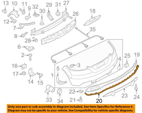 AUDI OEM 12-13 TT Quattro Rear Bumper-Lower Trim 8J08077633FZ
