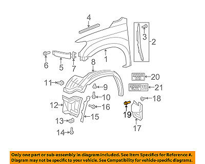 TOYOTA OEM Pick Up Box Bed-Mud Guard Screw 9015960603