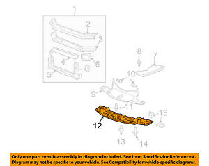 Pontiac-GM-OEM-04-08-Grand-Prix-Radiator-Support-Lower-Deflector-15246564