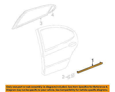 - NEW Dodge OEM Cinnamon Glaze Metallic Rear Door Side Molding 5018315AA INTREPID