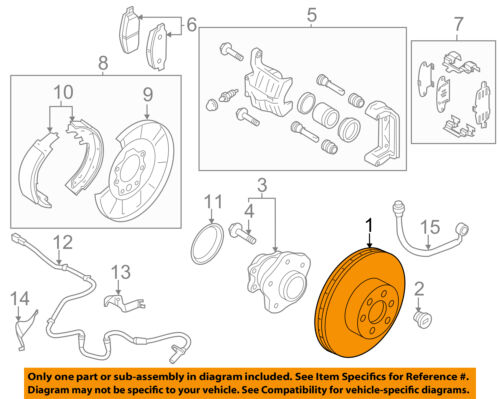 NISSAN OEM Rear Brake-Rotor 43206EG000