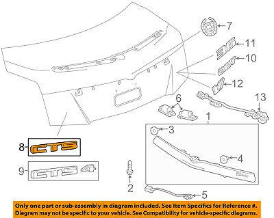 Cadillac GM OEM 15-18 CTS Trunk Lid-Emblem Badge Nameplate 23469727