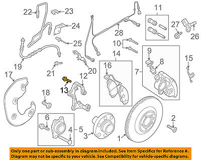AUDI OEM 08-17 A5 Quattro Brake-Front-Carrier Mount Bolt N91147601