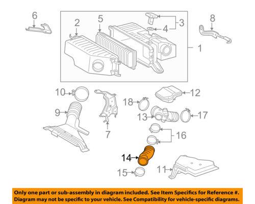 TOYOTA OEM Air Cleaner Intake-Hose Duct Tube 1788220140