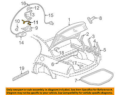 (Buick GM OEM 04-05 Park Avenue Trunk Lid-Contact 23372324)