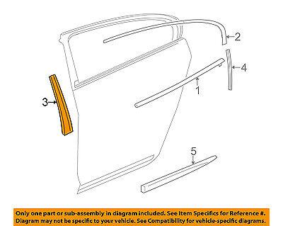 Buick GM OEM 10-16 LaCrosse Exterior-Rear-Applique Window Trim Left 20917054