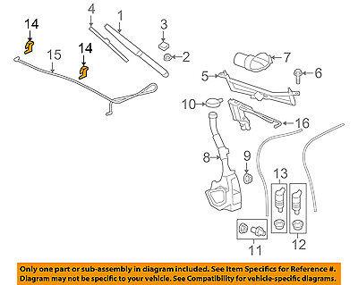 GM OEM Windshield Wiper Washer-Nozzle Spray Jet -
