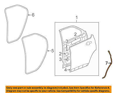 Chevrolet GM OEM 10-16 Equinox Rear Door-Rear Weatherstrip Seal Left 20998458