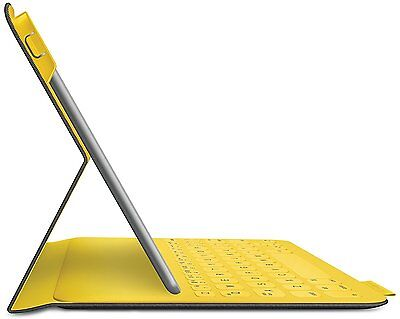 Logitech Fabric Skin Thin Keyboard Folio Case for iPad Air 1 Urban Grey / Yellow
