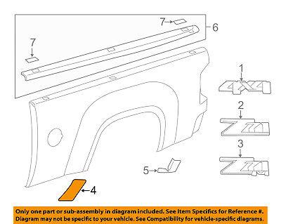GM OEM Pick Up Box Bed-Stone Deflector Guard Right 15952188