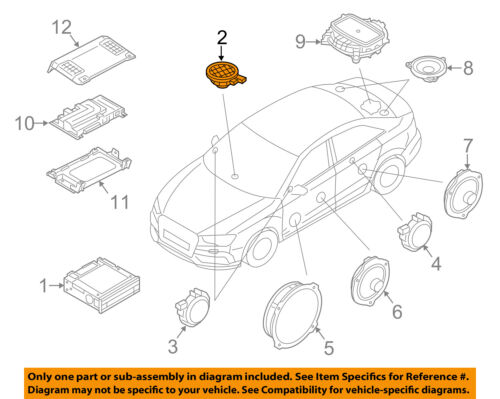 AUDI A8 S8 D3 DASHBOARD BOSE SPEAKER ASSEMBLY OEM