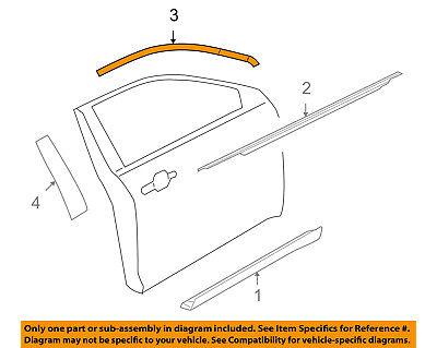 FORD OEM 10-15 Taurus Front Door-Upper Molding Trim Right AG1Z5420550B