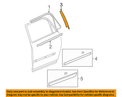 GM OEM Exterior-Rear-Applique Window Trim Right 22825481