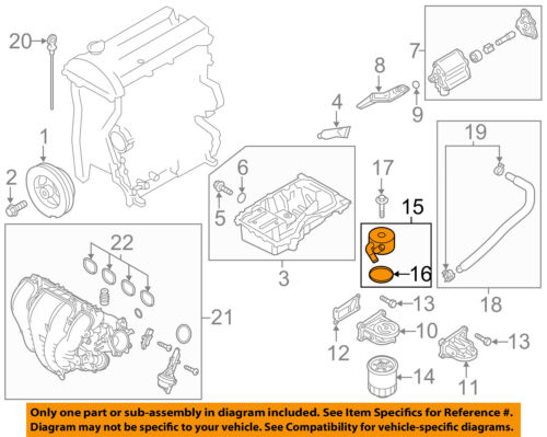 Details about MAZDA OEM 07-12 CX-7-Engine Oil Cooler LF6W14700A on
