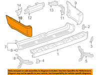 TOYOTA OEM 14-18 4Runner REAR BUMPER-Lower Extension 5215135901