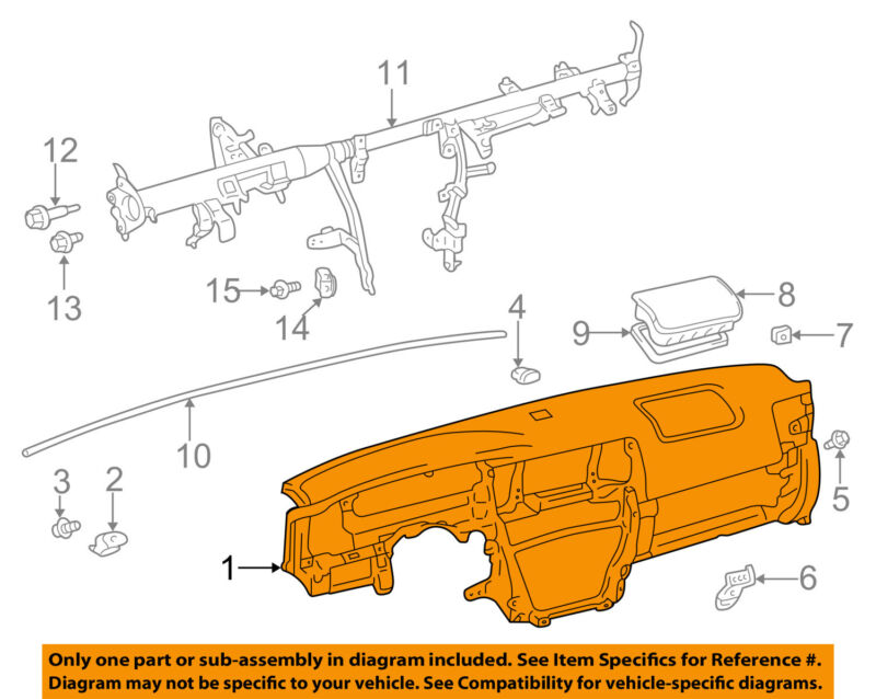 Toyota Oem 03-05 4runner Instrument Panel-dash 5540135909b0