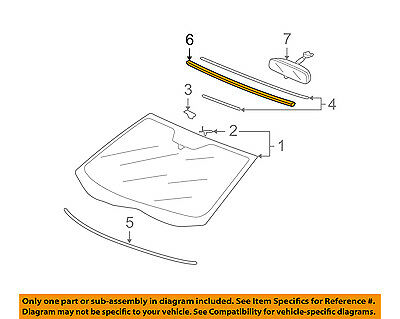 Acura HONDA OEM 07-13 MDX Windshield-Reveal Surround Molding Trim 73150STXA01