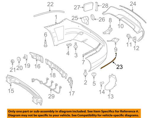 Chrome Rear Left Bumper Moulding Trim Fit For Mercedes C-Class C300 C250 2012-2014 SC-2048852921