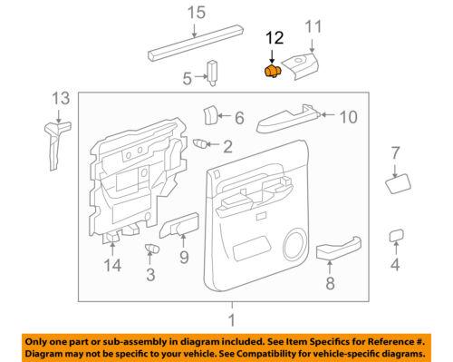 GM OEM Rear Door Window Switch 22895546
