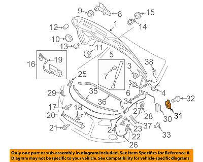 AUDI OEM 2016 TT Quattro Hood-Latch Lock Release Cable 8S0823529D