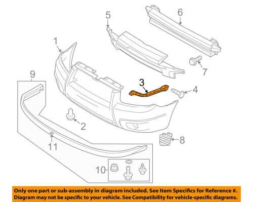 SUBARU OEM 05-07 Outback Front Bumper-Side Bracket Right 57707AG17A