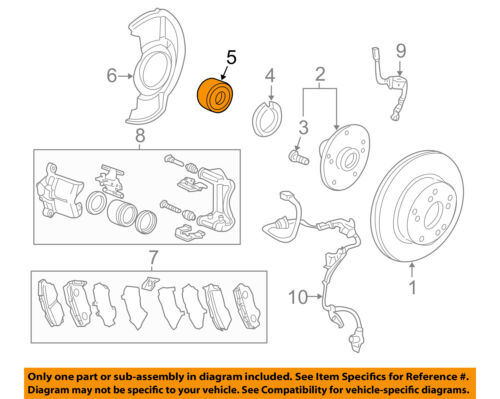 Rear Wheel Hub /& Bearing Assembly for 2014-2015 Honda Accord 2.0L L4