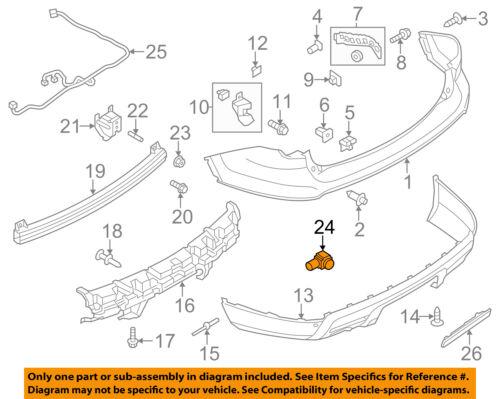 FORD OEM Rear Bumper-Park Sensor FR3Z15K859A