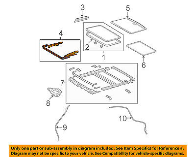 TOYOTA OEM Sunroof-Drive Cable Assembly 632050E020