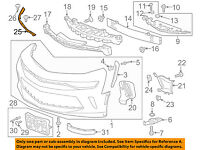 Fits 2016-2018 Chevrolet Camaro Front Bumper Cover Reinforcement 107-1369 NSF