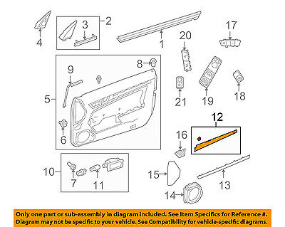 Door Interior Trim Panel (MERCEDES OEM 10-13 E350-Door Interior Trim Panel-Upper Left)