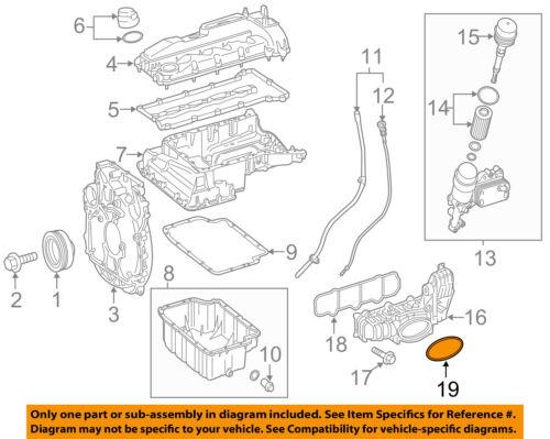 mercedes oem 14 17 sprinter 3500 2 1l l4 engine intake manifold seal rh ebay com