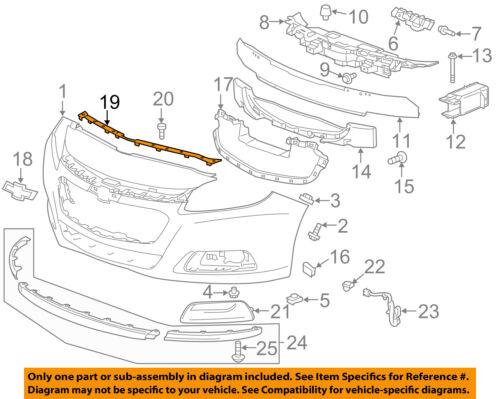 Chevrolet GM OEM Malibu Front Bumper Grille Grill-Upper Retainer Left 23424577