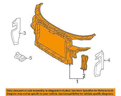 AUDI OEM 06 08 A3 Radiator Core Support Bracket Panel 8P0805588A