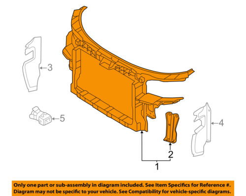 FORD OEM-Radiator Core Support Bracket Panel 4L3Z8A193AA
