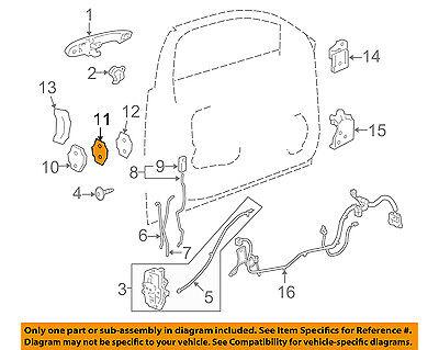 GM OEM Front Door-Striker Spacer 12451685