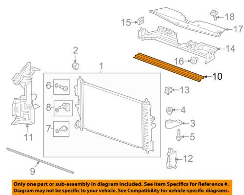 Chevrolet GM OEM 16-18 Cruze 1.4L-L4 Radiator-Upper Seal 13356636