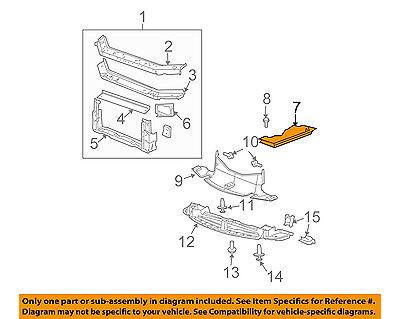 Pontiac GM OEM 04-08 Grand Prix Radiator Core Support-Upper Baffle (Pontiac Grand Prix Radiator Core)