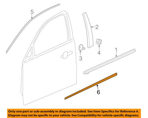 22798887 RH New OEM Front Door Molding - 2013-2016 Chevrolet Malibu