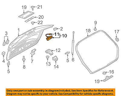 AUDI OEM 15-16 A3 Trunk Lid-Release Switch 8V0827566